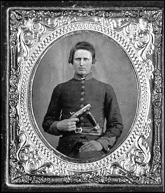Portrait of Pvt. Robert Patterson, Company D, 12th Tennessee Infantry, C.S.A.