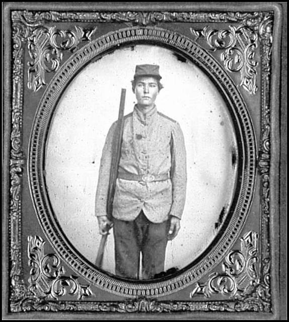 [Portrait of Pvt. Walter Miles Parker, 1st Florida Cavalry, C.S.A.]