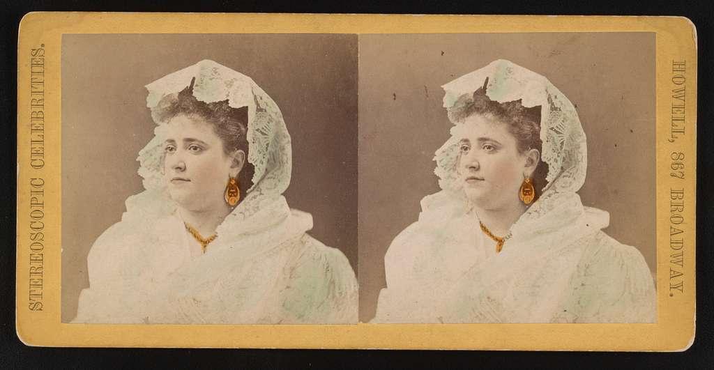 Portrait of woman, facing left