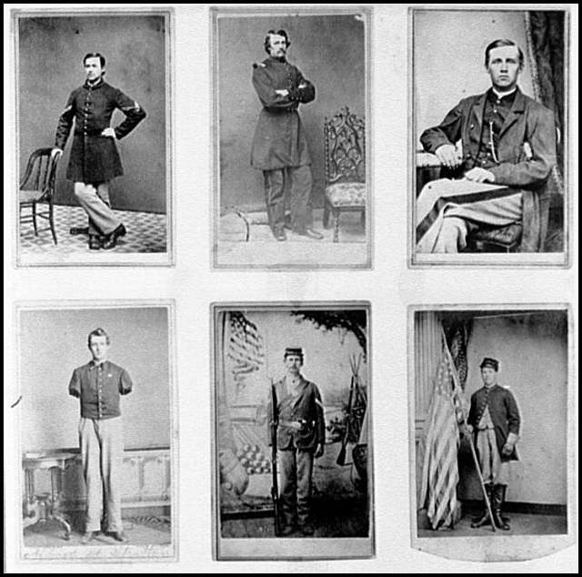 [Portraits of a group of Federal soldiers]