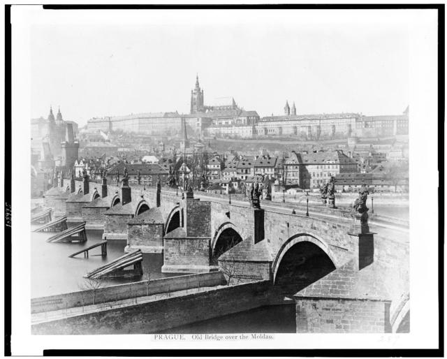 Prague. Old bridge over the Moldau