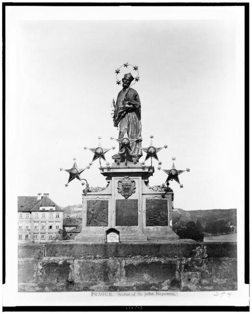 Prague. Statue of St. John Nepomue