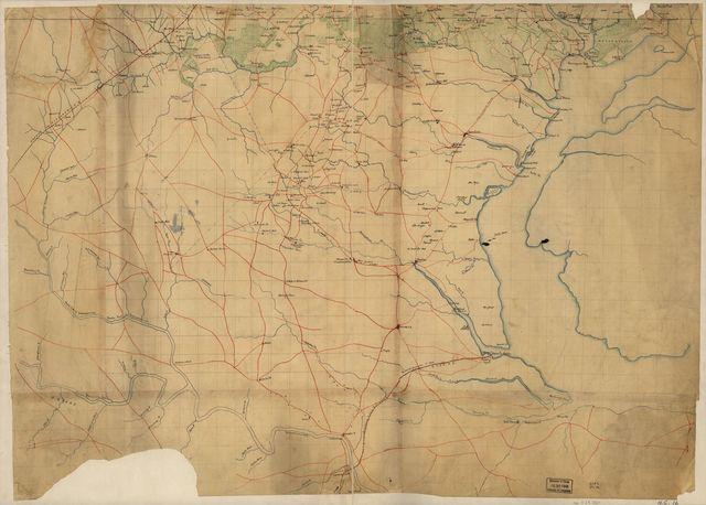 [Preliminary map of northeastern Virginia embracing portions of Prince William, Stafford, and Fauquier counties].