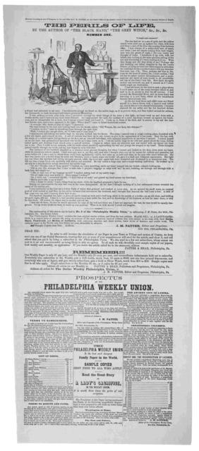 Prospectus of the Philadelphia weekly union ... Philadelphia, 1860.