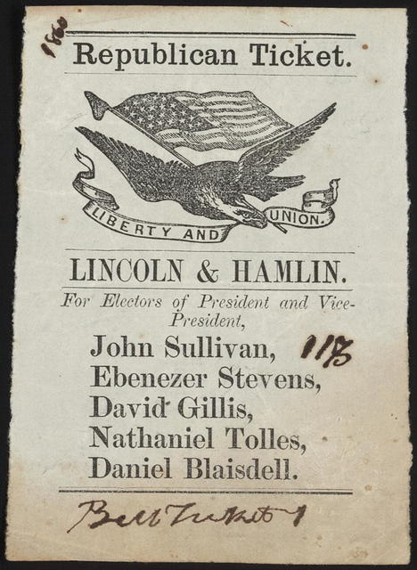 Republican ticket. Liberty and Union. [New Hampshire Campaign ticket].