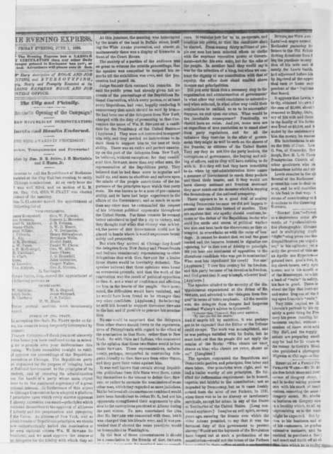 Rochester New York Evening Express, Friday, June 01, 1860  (Issue)
