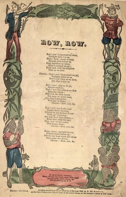 Row, row. H. De Marsan, Publisher, 38 & 60 Chatham Street, N. Y