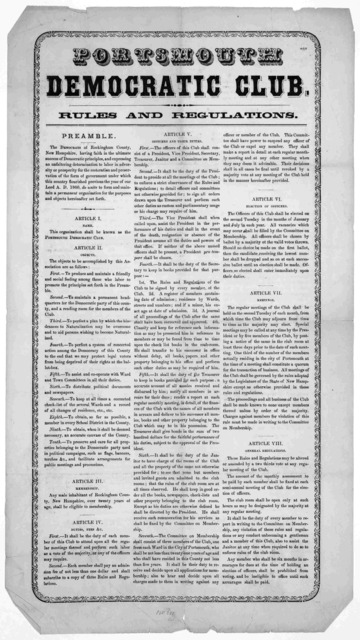 Rules and regulations. [186-].