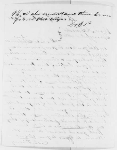S. B. Pinney to Abraham Lincoln, Tuesday, October 09, 1860  (Wants list of Southerners who have sought offices)