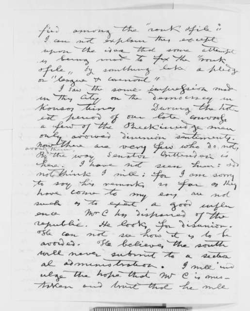 Samuel T. Glover to Abraham Lincoln, Wednesday, October 24, 1860  (Missouri politics)