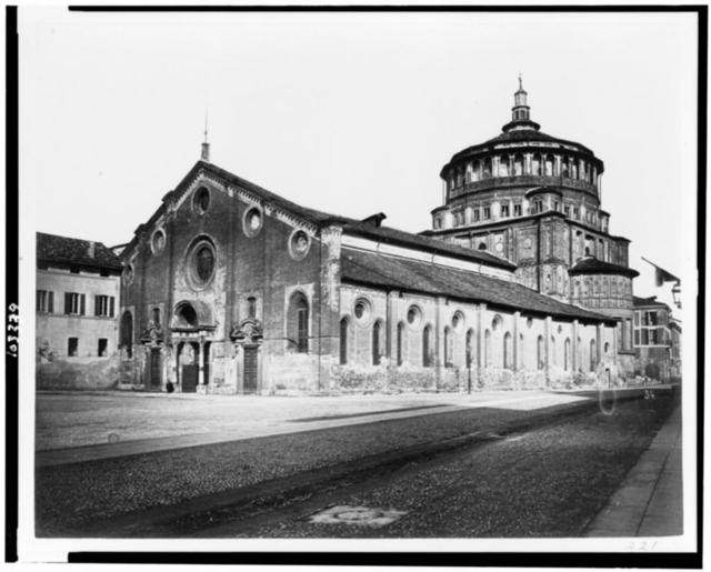 Santa Maria delle Grazie. Refectory containing picture of Last supper by Leonardo da Vinci