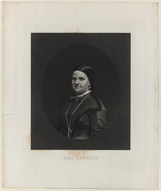 [Sartain portrait of Mary Todd Lincoln]
