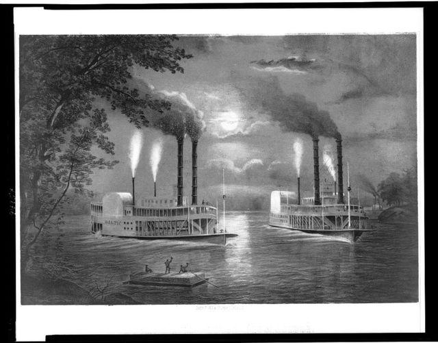 Scene on the upper Mississippi (Am Ober-Mississippi)