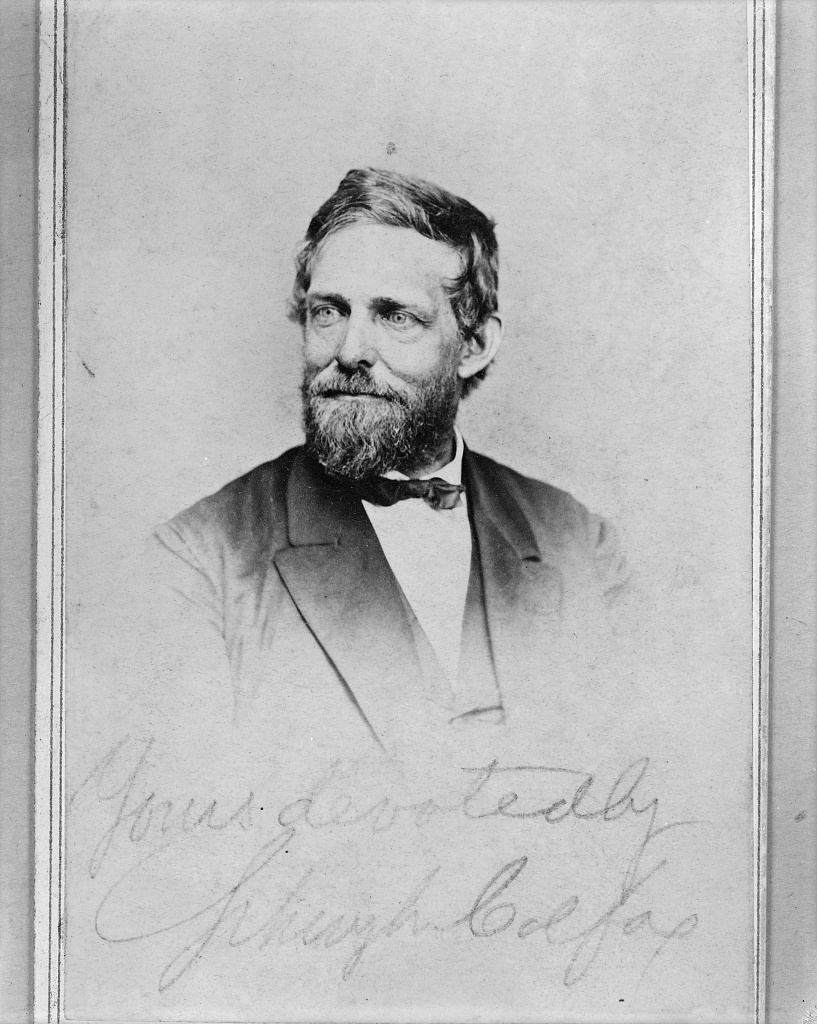 [Schuyler Colfax, head-and-shoulders portrait, facing left]