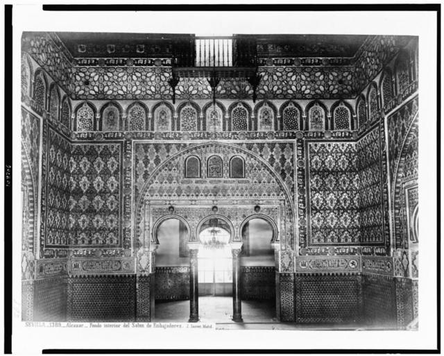 Sevilla. Alcazar. Fondo interior del Salon de Embajadores / J. Laurent. Madrid.