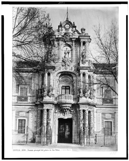 Sevilla. Portada principal del palacio de San Telmo / J. Laurent. Madrid.