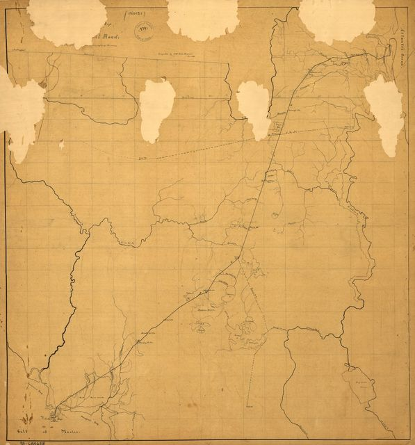 [Sketch map of northeastern Florida showing the Florida Railroad and proposed connections] Jan. 1860.