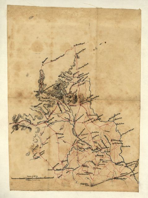 [Sketch of parts of Warren, Rappahannock, and Culpeper counties, Virginia, including the area between the Rappahannock River the Blue Ridge, from Front Royal to Culpeper].