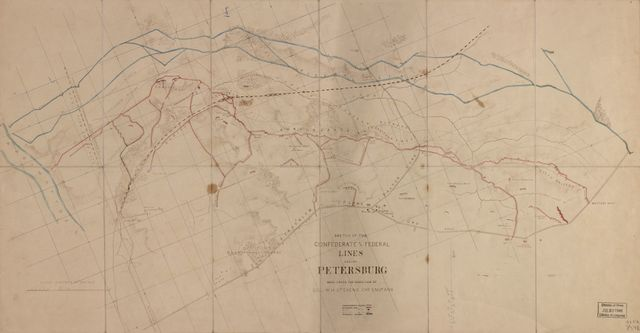 Sketch of the Confederate and Federal lines around Petersburg /