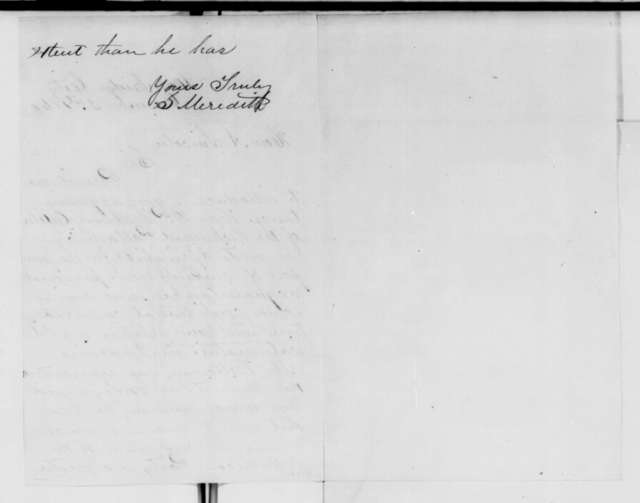 Solomon Meredith to Abraham Lincoln, Monday, December 31, 1860  (Introduction)