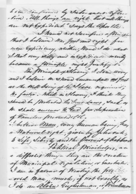Solomon Sturges to Abraham Lincoln, Monday, April 09, 1860  (Slavery)