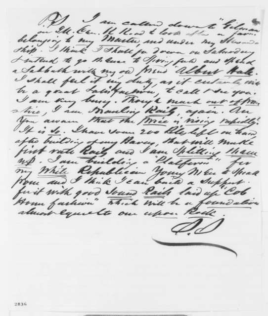 Solomon Sturges to Abraham Lincoln, Tuesday, May 22, 1860  (Advice)