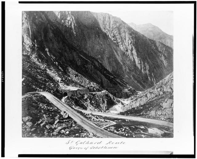 St. Gothard route. Gorge of Schöllinen
