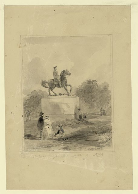 [Statue of George Washington by Clark Mills]