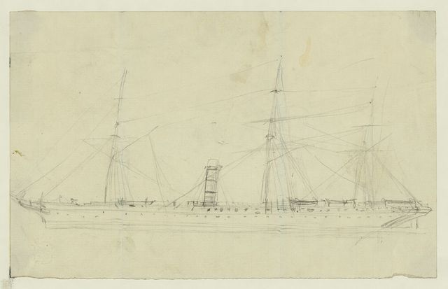 [Steamship with three masts]