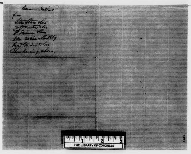 Stone Stare & Co. to E. B. Hawley & Co., Saturday, December 29, 1860  (Recommendation)