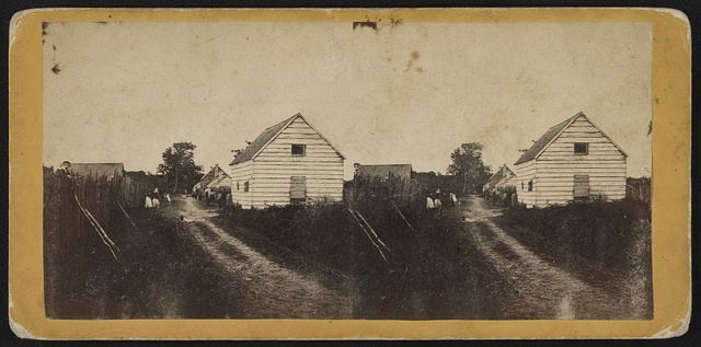 Street and Negro quarters, Retreat Plantation, Port Royal Island, S.C. / Photographed by Hubbard & Mix, Beaufort, S.C.