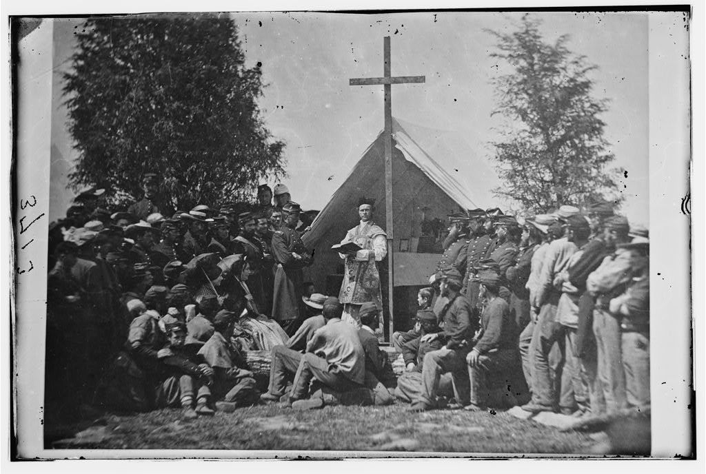 Sunday Morning Mass. Camp of 69th N.Y. SM