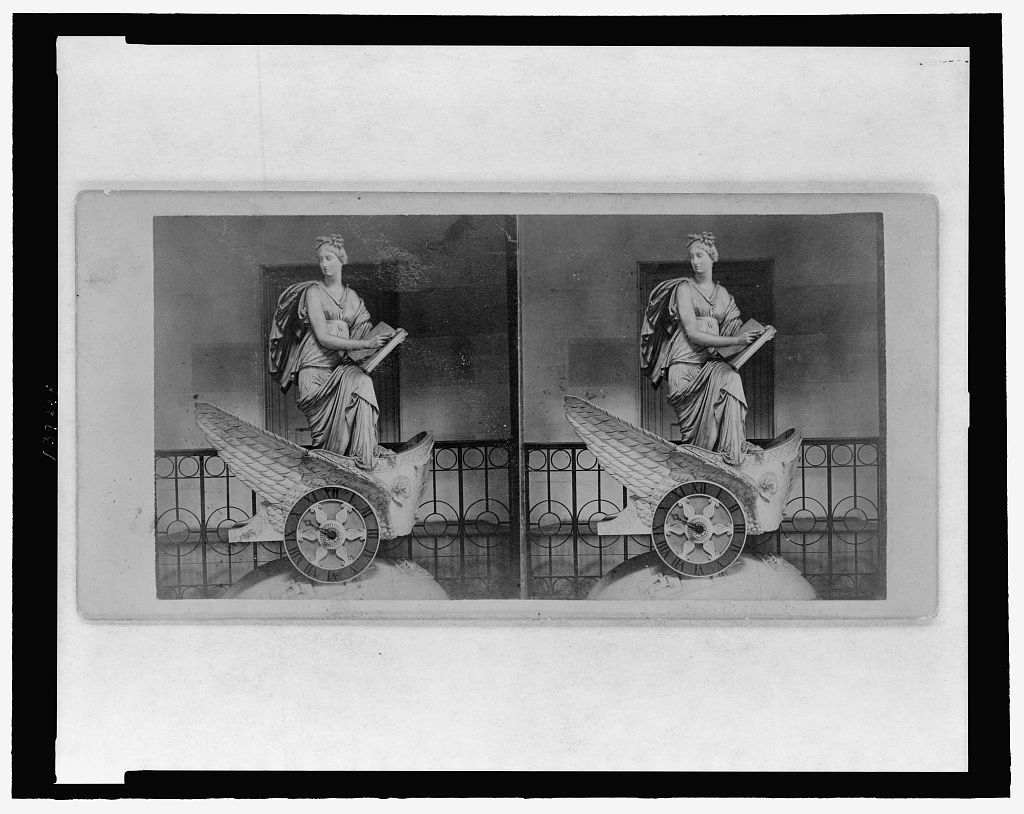 [The car of history clock at the U.S. Capitol]