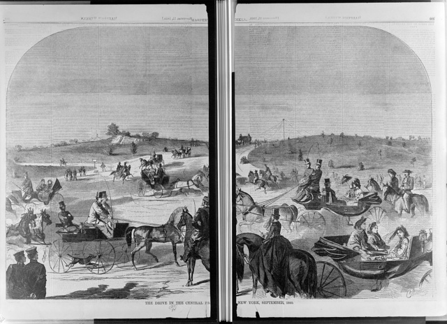 The drive in the Central Pa[rk,] New York, September, 1860 / W. Homer.