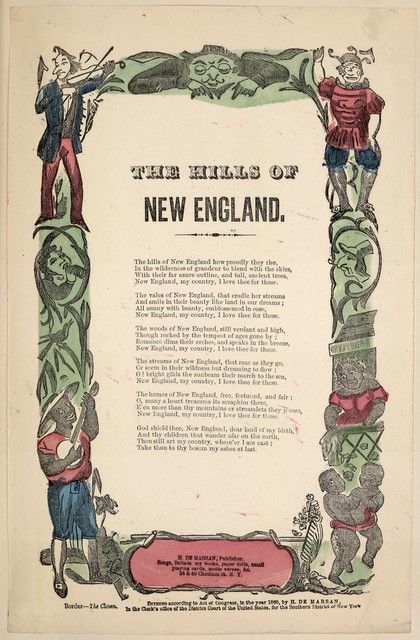 The hills of New England. H. De Marsan, Publisher, 38 & 60 Chatham St., N. Y