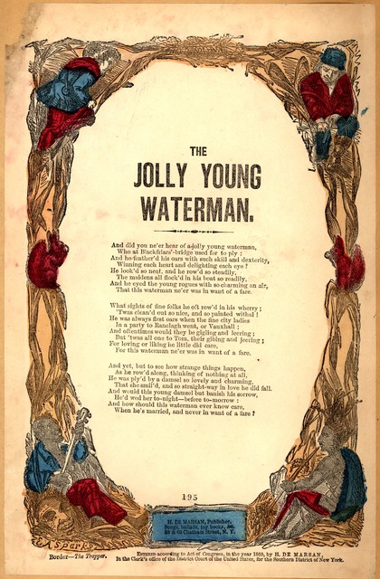 The jolly young waterman. H. De Marsan, Publisher, ... 38 & 60 Chatham Street, N. Y