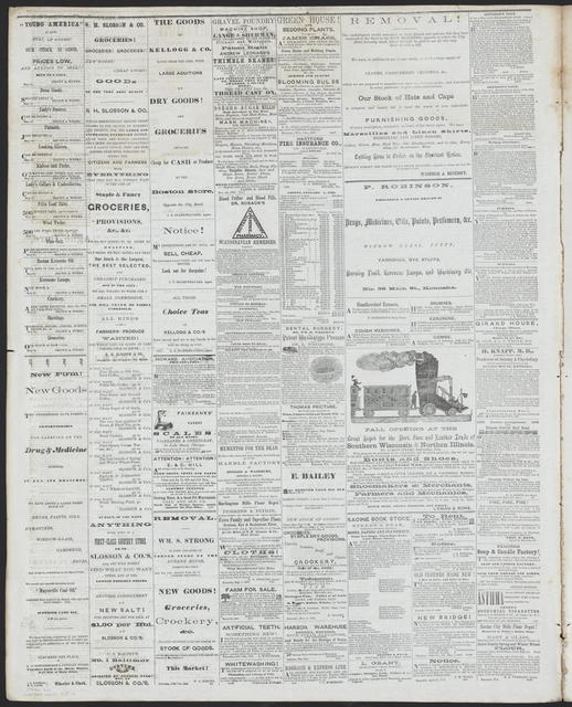 The Kenosha Telegraph, [newspaper]. May 24, 1860.