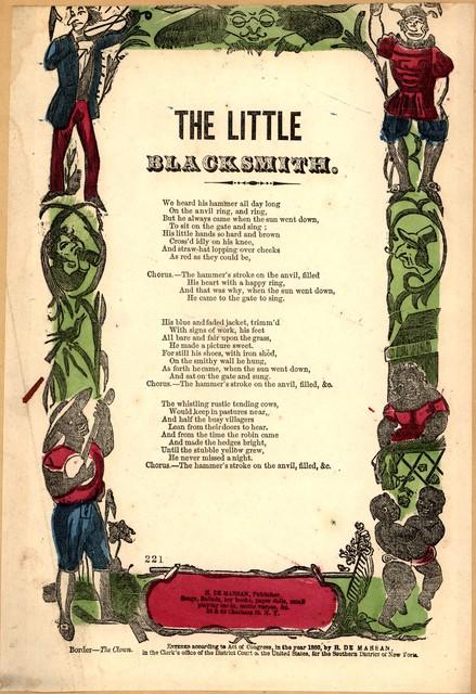 The little blacksmith. H. De Marsan, Publisher, ... 38 & 60 Chatham, Street, N. Y