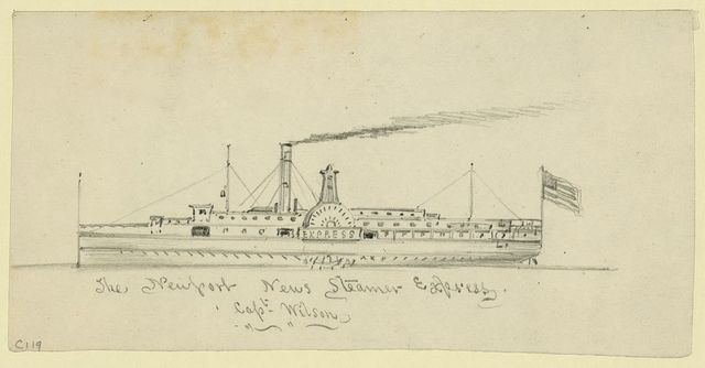 The Newport News Steamer Express Capt. Wilson
