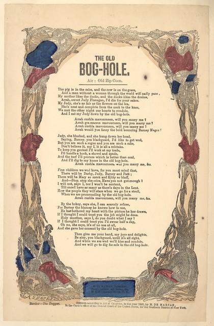 The old bog-hole. Air: Old zip coon. H. De Marsan, Publisher, No. 38 & 60 Chatham St. N. Y. [c. 1860]