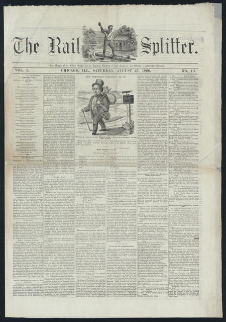 The Rail Splitter, [Newspaper]. August 25, 1860 and October 4th, 1860.