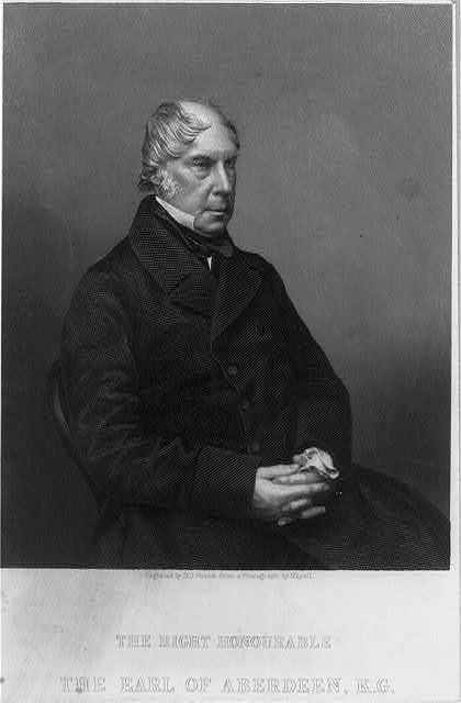 The right honourable the Earl Abderdeen, K. G. / engraved by D. J. Pound from a photograph by Mayall.