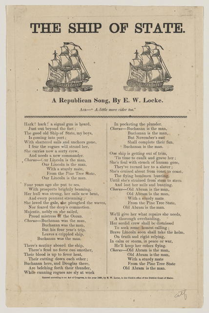 The Ship of State. A Republican song.