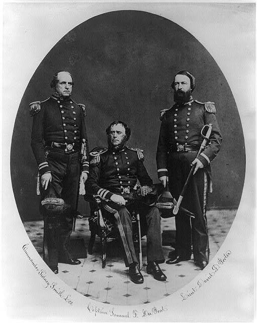 The U.S. Commissioners for the 1st Japanese embassy to the U.S., May - July 1860. Commander Sidney Smith Lee, Captain Samuel F. DuPont, Lieut. David Dixon Porter