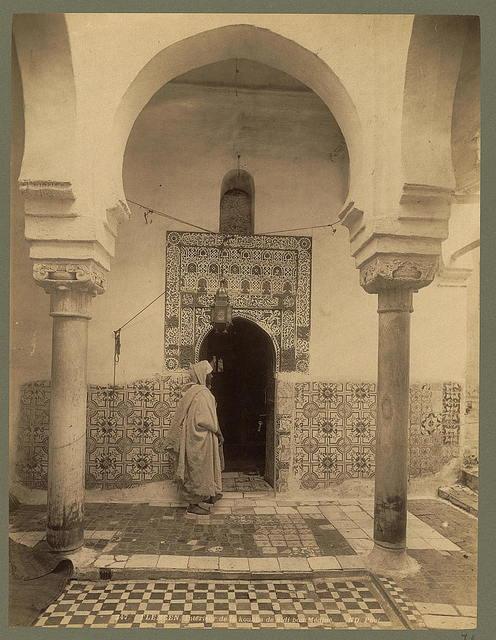 Tlemcen. Intérieur de koubha de Sidi bou Médine / ND. Phot.