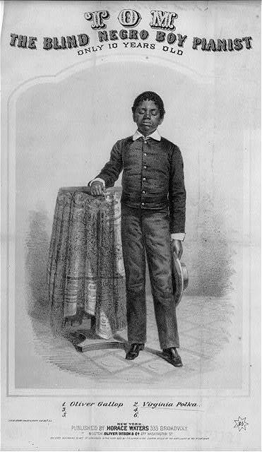 Tom, the blind Negro boy pianist, only 10 years old