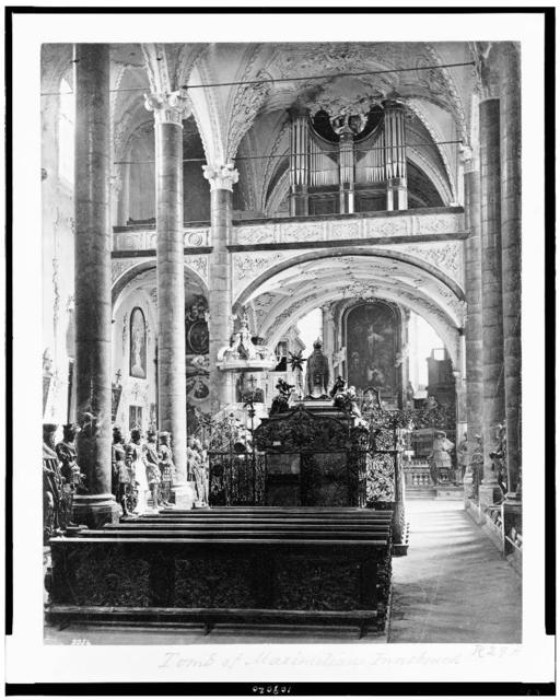 [Tomb of Maximilian I in the Hofkirche, Innsbruck, Austria]