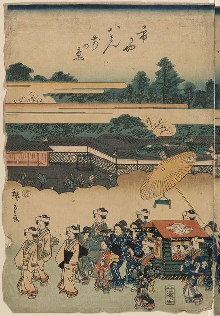 Tōto nishiki gyōretsu ichigaya hatimannae no kei