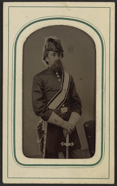 [Unidentified man in Masonic regalia including gauntlets, belt, sash, and Knights Templar hat with sword] / C. C. Giers, Nashville.
