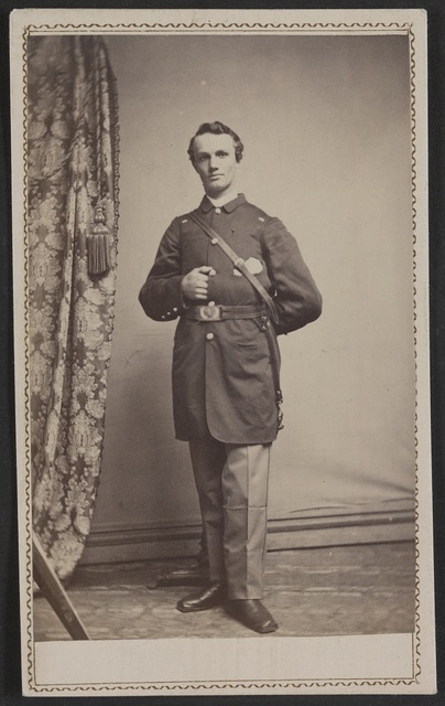 [Unidentified soldier in Union uniform] / Hugo Bartels' Photograph Gallery, No. 262 Penna. Ave. bet. 12th & 13th Sts., Washington, D.C.